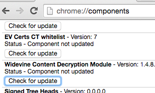 chrome://components in Chrome