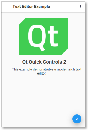 Qt Quick Controls 2 - Text Editor example (Touch UI)
