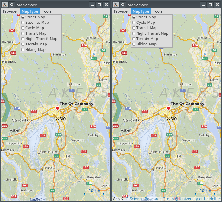 Mapviewer before and after resolution