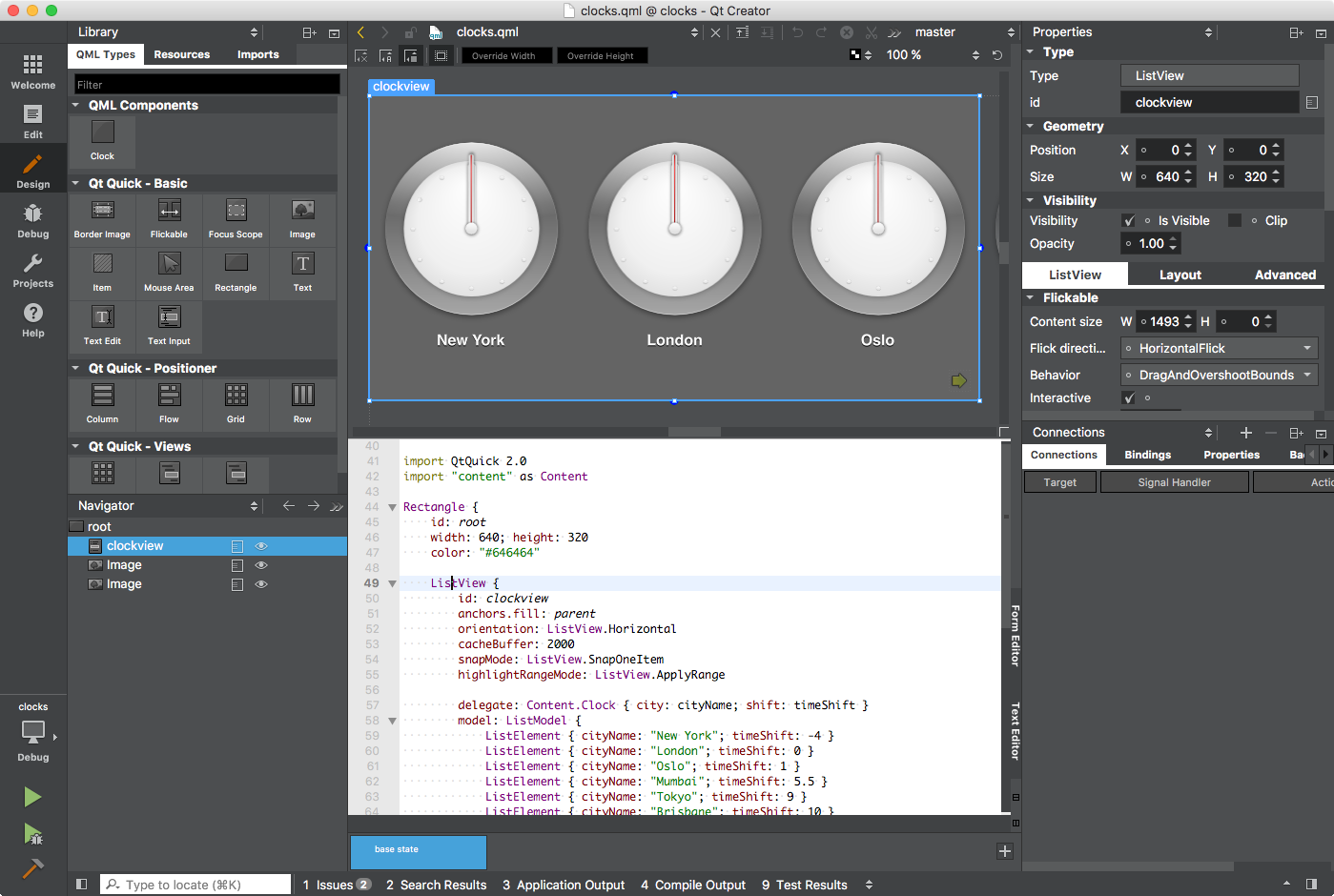 Qt Quick Designer with integrated code editor