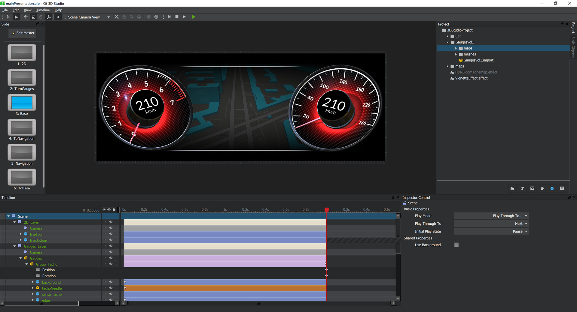 Real-time 3D User interfaces can be easily created with Qt 3D Studio