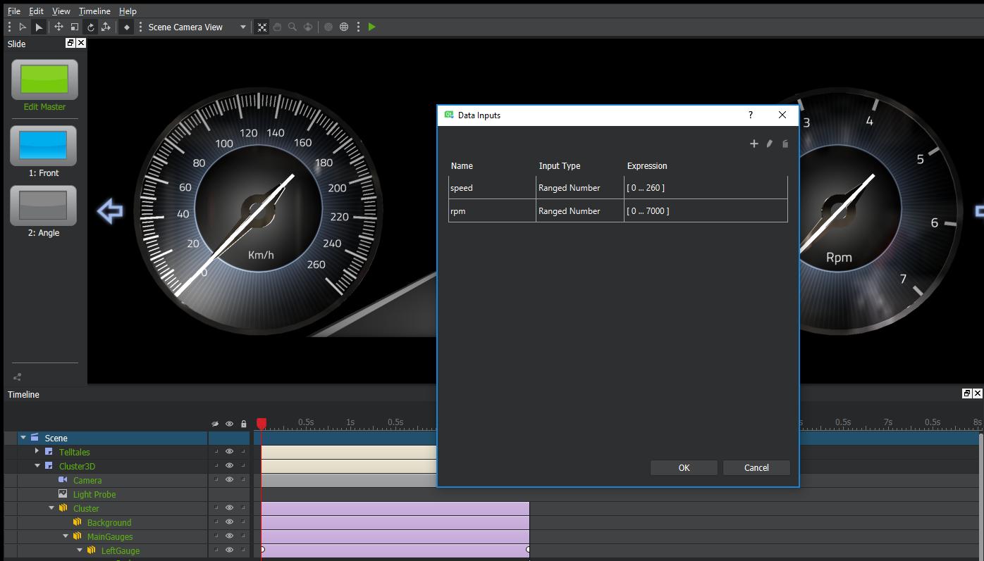 Qt 3D Studio Data Input