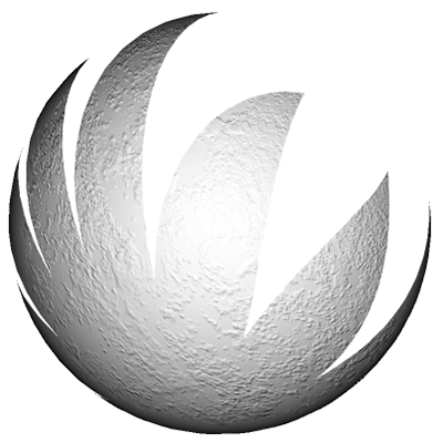 A sphere with an opacity map